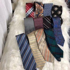 Lot of 12 Geoffrey Beene silk neck ties